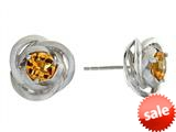Balissima By Effy Collection Sterling Silver Citrine Earrings style: 520264