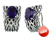 Balissima By Effy Collection Sterling Silver Amethyst Earrings style: 520265