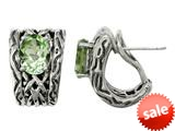 Balissima By Effy Collection Sterling Silver Green Amethyst Earrings style: 520266