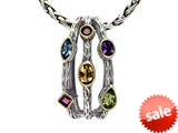 Balissima By Effy Collection Sterling Silver and 18k Yellow Gold 2.10 cttw Multicolor Pendant Necklace style: 520284