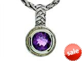 Balissima By Effy Collection Sterling Silver and 18k Yellow Gold Amethyst Pendant Necklace style: 520286