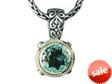 Balissima By Effy Collection Sterling Silver and 18k Yellow Gold Green Amethyst Pendant Necklace style: 520293
