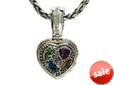 Balissima By Effy Collection Sterling Silver and 18k Yellow Gold 1.00 cttw Multicolor Heart Pendant Necklace style: 520297