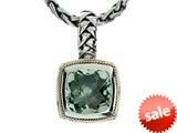 Balissima By Effy Collection Sterling Silver and 18k Yellow Gold Green Amethyst Pendant Necklace style: 520299