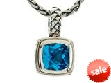 Balissima By Effy Collection Sterling Silver and 18k Yellow Gold Blue Topaz Pendant Necklace style: 520301
