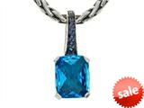 Balissima By Effy Collection Sterling Silver Blue Topaz and Sapphire Pendant style: 520317