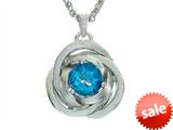 Balissima By Effy Collection Sterling Silver Blue Topaz Pendant Necklace style: 520320