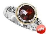 Balissima By Effy Collection Sterling Silver and 18k Yellow Gold Garnet Ring style: 520330