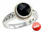 Balissima By Effy Collection Sterling Silver and 18k Yellow Gold Onyx Ring style: 520332