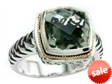 Balissima By Effy Collection Sterling Silver and 18k Yellow Gold Green Amethyst Ring style: 520351