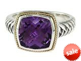 Balissima By Effy Collection Sterling Silver and 18k Yellow Gold Amethyst Ring style: 520352