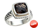 Balissima By Effy Collection Sterling Silver and 18k Yellow Gold Smoky Quartz Ring style: 520354