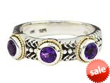 Balissima By Effy Collection Sterling Silver and 18k Yellow Gold Amethyst Ring style: 520366
