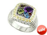 Balissima By Effy Collection Sterling Silver and 18k Yellow Gold 1.50 cttw Multicolor Ring style: 520371