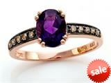 Effy Collection 14k Rose Gold Amethyst Ring style: 520396