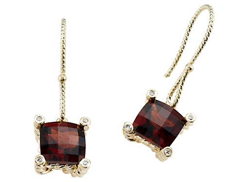 Effy Collection 3.83 cttw Genuine Garnet Earrings by Effy Collection in 14k Yellow Gold at Sears.com
