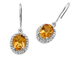Genuine Citrine Earrings by Effy Collection