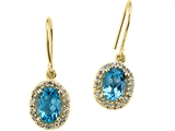 Genuine Blue Topaz Earrings by Effy Collection®