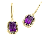 Genuine Amethyst Earrings by Effy Collection