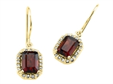 Genuine Garnet Earrings by Effy Collection