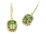 Genuine Peridot Earrings by Effy Collection
