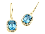 Genuine Blue Topaz Earrings by Effy Collection® style: 520011