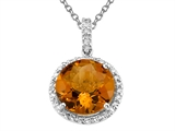 Genuine Citrine Pendant by Effy Collection® style: 520021