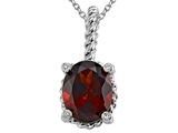 Genuine Garnet Pendant by Effy Collection® style: 520035