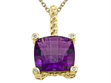 Genuine Amethyst Pendant by Effy Collection