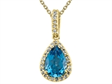 Genuine Blue Topaz Pendant by Effy Collection® style: 520049