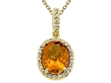 Genuine Citrine Pendant by Effy Collection® style: 520053
