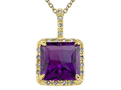 Effy Collection 3.14 cttw Genuine Amethyst Pendant by Effy Collection in 14k Yellow Gold at Sears.com