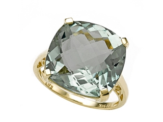 Genuine Green Amethyst Ring by Effy Collection(r)