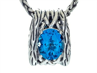 Balissima By Effy Collection Sterling Silver Blue Topaz Pendant Necklace