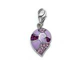 Pink Enamel Charm with Pink CZ`s for Charm Braclelet or Smartphone using our SmartPhone Plug