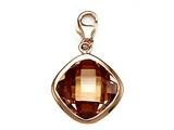 November Simulated Square Shape Birthstone Charm for Charm Braclelet or Smartphone using our Smartphone Plug Adaptor