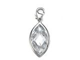 April Simulated Birthstone Marquise Shape Charm for Charm Braclelet or Smartphone using our Smartphone Plug Adaptor