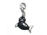 Grey Enamel Seal Charm for Charm Braclelet or Smartphone using our Smartphone Plug