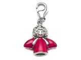 Pink Enamel Angel Charm for Charm Braclelet or Smartphone using our Smartphone Plug