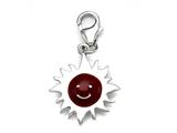 Red Enamel Sunshine Charm for Charm Braclelet or Smartphone using our Smartphone Plug