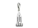 Black Enamel Empire State Building Charm for Charm Braclelet or Smartphone using our Smartphone Plug style: BPP1845