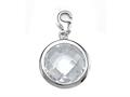April Simulated Birthstone Round Shape Charm for Charm Braclelet or Smartphone using our Smartphone Plug Adaptor