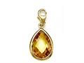 November Simulated Birthstone Pear Shape Charm for Charm Braclelet or Smartphone using our Smartphone Plug Adaptor