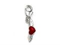 Red Enamel Heart on Wings Charm for Charm Braclelet or Smartphone using our Smartphone Plug