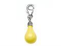 Yellow Enamel Lightbulb Charm for Charm Braclelet or Smartphone using our Smartphone Plug