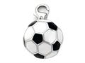 Black and White Enamel Soccer Ball Charm for Charm Bracelet or Smartphone using our Smartphone Plug