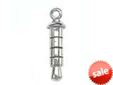 Sterling Silver Smartphone Cell Phone 3.5mm Audio Jack Adaptor Plug With Charm Ring style: BFP0021