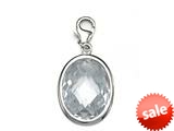 April Simulated Birthstone Large Oval Shape Charm for Charm Braclelet or Smartphone using our Smartphone Plug Adaptor