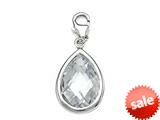 April Simulated Birthstone Pear Shape Charm for Charm Braclelet or Smartphone using our Smartphone Plug Adaptor style: BPC1603