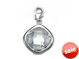 April Simulated Birthstone Square Shape Charm for Charm Braclelet or Smartphone using our Smartphone Plug Adaptor
